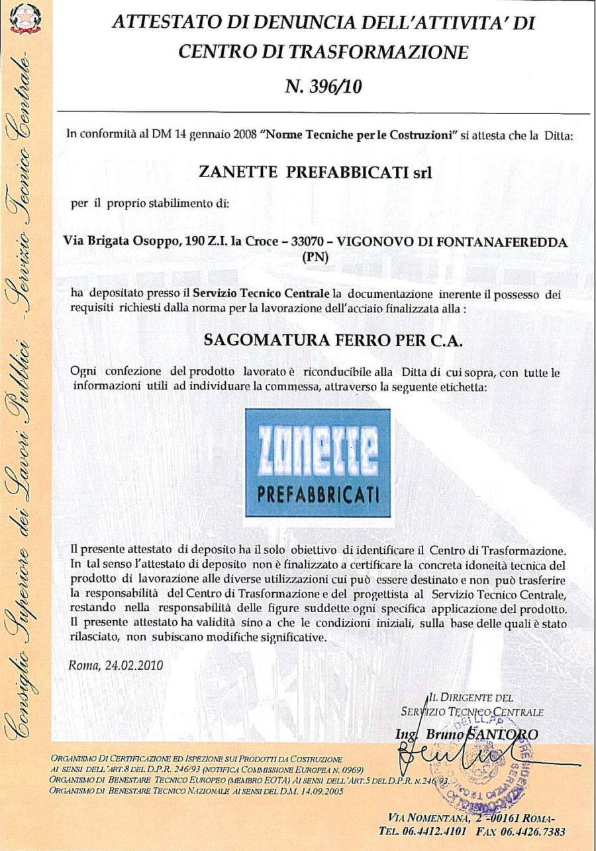 CENTRO TRASFORMAZIONI FERRO